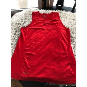 Nike Red Dri Fit Tank Top Large
